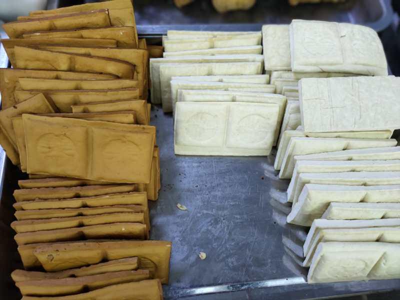 豆制品机器做出的产品实拍图